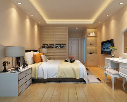 金沙湾四房两厅两卫户型现代风设计图