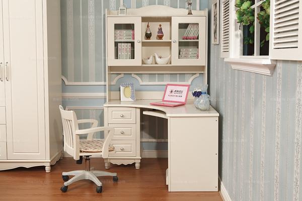 值得参照的书桌书架组合设计效果图-家装指南-华宁