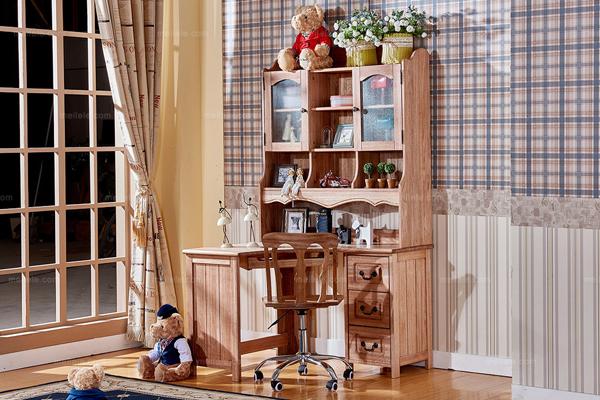 值得参照的书桌书架组合设计效果图