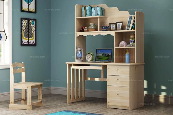 值得参照的书桌书架组合设计效果图-家装指南-华宁装