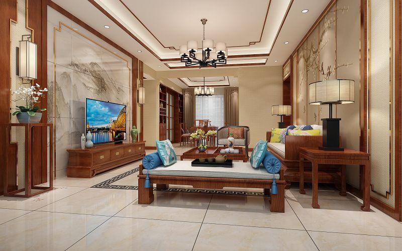 北湖明珠中式风格样板房设计效果图