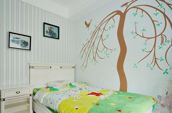 儿童房手绘墙设计 有你家娃喜欢的吗图片